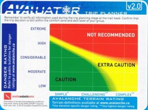 Avaluator trip planner Avalanche Canada Danger Ratings Snow Safety