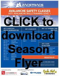 Zacs Tracs Season Flyer