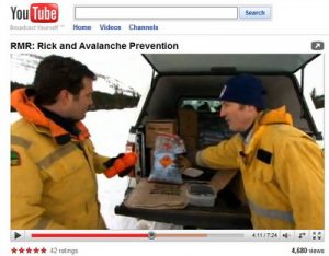 Avalanche explosive control Parks Canada Rick Mercer