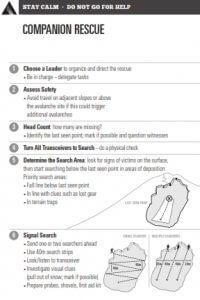 Avalanche Canada Companion Rescue Card