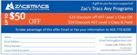 Zacs Tracs Discount Coupon