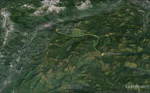 Coal Creek Staging area Zacs Avalanche Field Training in Fernie