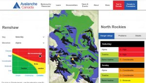 Avalanche Canada Trip Planner uses the ATES ratings and the current Avalanche Forecast